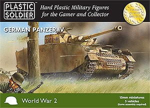 15mm Easy Assembly German Panzer IV Tank-0