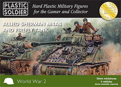 15mm Easy Assembly Sherman M4A4 and Firefly Tank-0