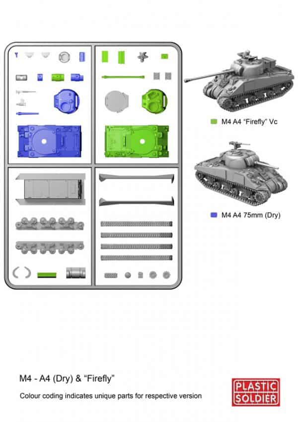 15mm Easy Assembly Sherman M4A4 and Firefly Tank-2540