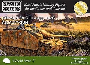 15mm Easy Assembly German Stug III F8/G AUSF Assault Gun-0