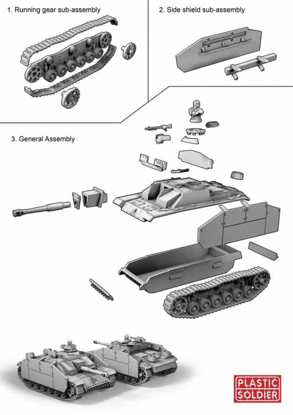 15mm Easy Assembly German Stug III F8/G AUSF Assault Gun-2532