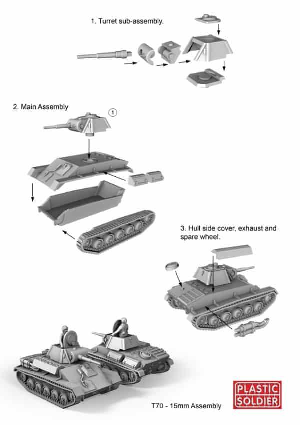 15mm Russian T70 Tank-4010
