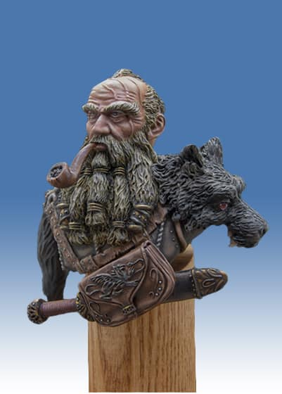 Dwarf WolfHunter Bust-6851
