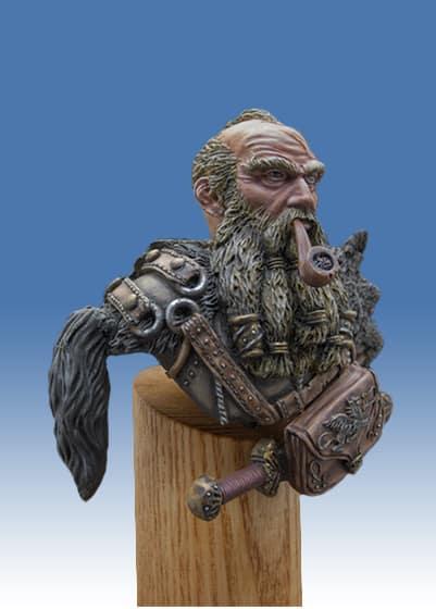 Dwarf WolfHunter Bust-6853