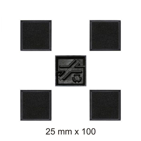 25MM SQUARE BASES х 100-0
