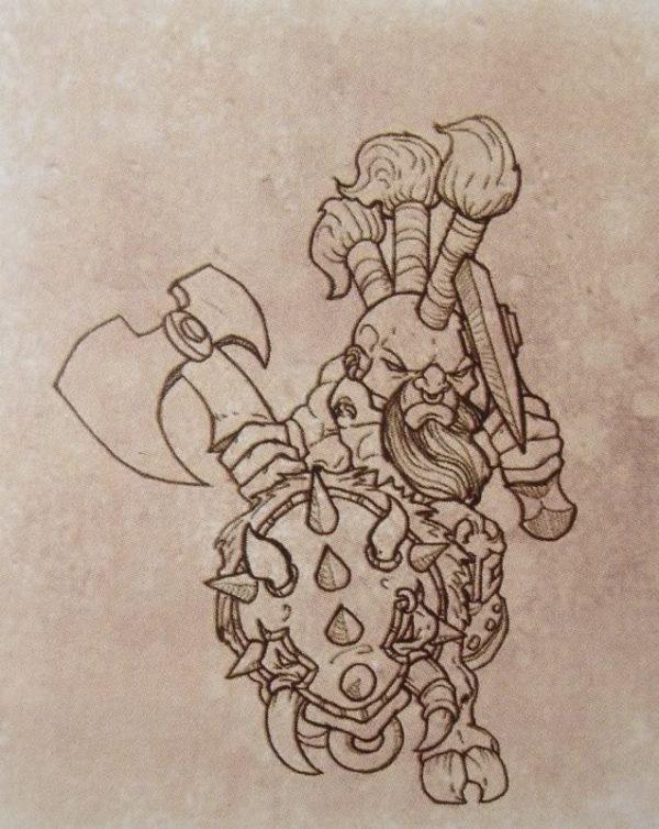 Young Dwarf on Razorback 3-8770
