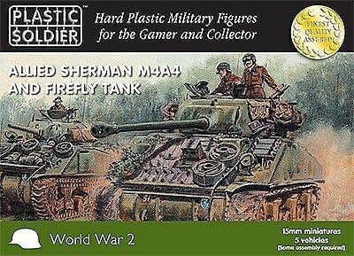 15mm Sherman M4A4 & Firefly Tank-0