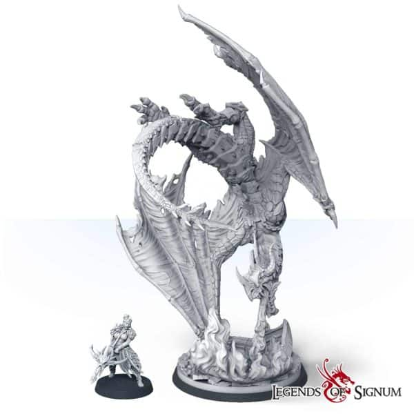 Paraxis the Scarlet Dragon 330mm.-12617
