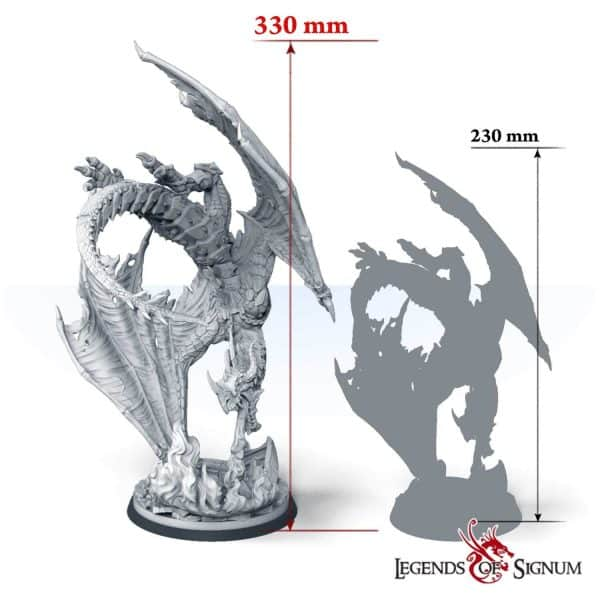 Paraxis the Scarlet Dragon 330mm.-12619