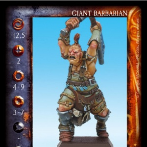 Giant Barbarian with Swords and Halberd